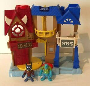 Imaginext Monsters Inc Playset University Campus Frat House Figures Disney Pixar