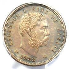 1883 Hawaii Kalakaua Dime (Ten Cents, 10C) - PCGS Uncirculated Details (UNC MS)