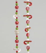 Candy Cane,Ball,Sweet Garlands 138cm Long x 2 Assorted Christmas Decoration