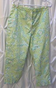 Lilly Pulitzer 8 Women's Vintage Capri Pants White Label VTG Tiger Lion Giraffe