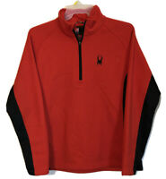 Spyder Red/Black Outbound Mid-Weight 1/2 Zip Core Sweater Men's Sz Large