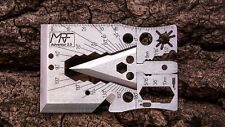 Credit Card Multi Tool Arrow Head Axe Survival Utility Tool Wallet Pocket Knife
