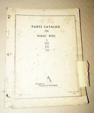1969 Allis-Chalmers Mowbee Model 5 526 532 732 Parts Catalog Manual PC-7006