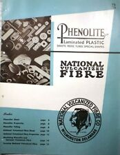 National Vulcanized Fibre Catalog ASBESTOS Phenolite Laminated Plastic 1946