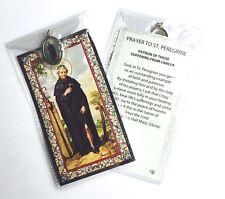 Saint St Peregrine Prayer Card & Medal