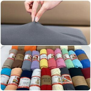 Jersey Fitted Sheets 100% Cotton Bed Sheet all Sizes