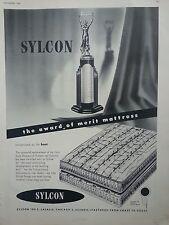 1950 Sylcon Trophy Mattress Factory Award Merit Mattress Original Ad