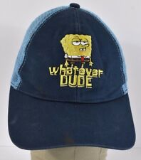 Navy Blue Spongebob Whatever Dude Comical Trucker hat cap Adjustable Snapback