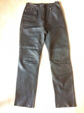 Vintage Soviet Russian leather women's trousers of the of the 1980-1990s.СССР