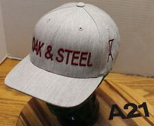 OAK & STEEL FINE WINE & SPIRITS HAT SIZE L/XL STRETCH FIT GRAY EXC COND A21