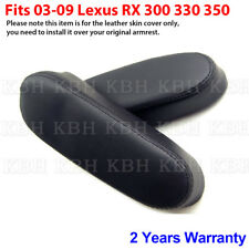 2pcs Leather Seat Armrest Cover Fit for Lexus RX 300 330 350 2003-2009 Black