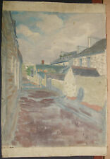 Peinture Huile Sur Toile LUCIEN OTT  ETUDE DE VILLAGE Datée 1908 LO18