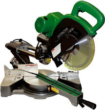 "Hitachi C10FSHPS 10"" Sliding Dual Compound Miter Saw PLUS Laser Marker New"