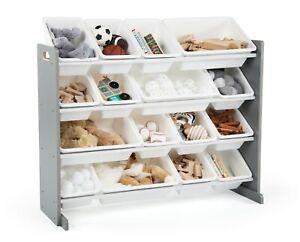 Toy Storage Box Organizer Kids Children Playroom Plastic Bins Wood Extra Large