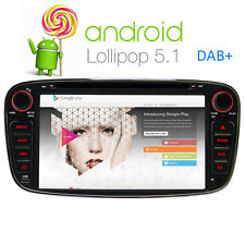 "2 DIN 7"" Android 5.1 Car Sat Nav GPS CD DVD Radio Ford Focus Mondeo S-Max Galaxy"