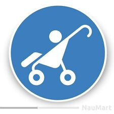 BABY CARRIAGE PLACE symbol door sign. Sticker / decal (ST887)