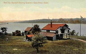 Red Top Harvard Training Quarters Gales Ferry Connecticut 1910c postcard