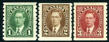 CANADA-1937 Coil Stamp Sg 368-370 MOUNTED MINT V10763