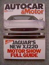 Autocar (19 Oct 1988) Jaguar XJ220, Aston Virage, Mirach, BMW 530i, Passat, Colt