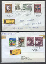 Austria AL25 Cover 1970-80th Registered Vienna Tirol 2 pcs
