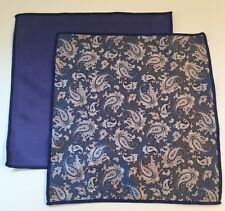 Paisley And Solid Blue Microfiber Cleaning Clothes