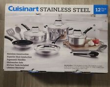 Cuisinart 12-Piece Cookware Set - Stainless Steel Oven And Dishwasher Safe NEW!