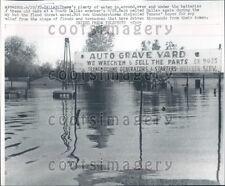 1957 Flood Scene At Auto Grave Yard Dallas TX  Press Photo