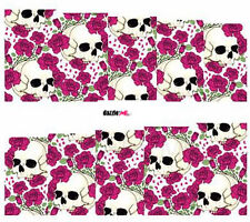Nail Art Sticker Water Decals Transfers Halloween Skulls and Roses (DC251)