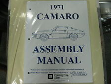 1971 CAMARO (ALL MODELS) ASSEMBLY MANUAL
