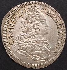 RDR, BÖHMEN, 6 KREUZER 1733, PRAG, SILBER