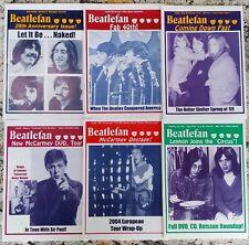 Beatlefan Magazine Collection Lot Beatles Vol 25 Excellent Condition 6 Issues