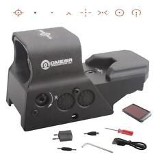 Vector Optics Omega Tactical 8 Reticle Red Green Dot Sight QD Mount Solar Power