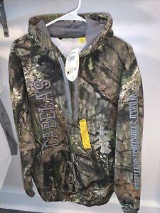 Cabelas hooded sweatshirt camo NWT sz M opening day mossy oak✅💯😇