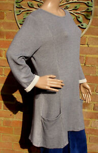 Seasalt Womens Clew Tunic Grey Size 14 New Without Tags