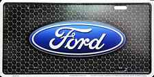 Ford Logo Black Aluminum Novelty License Plate Tag for Front of Car-Truck