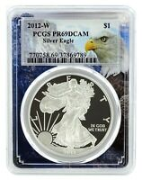 2012 W 1oz Silver Eagle Proof PCGS PR69 DCAM - Eagle Frame