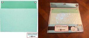 "Martha Stewart Home Office Avery LARGE Shagreen Wall Pocket 12"" x 10-1/4"" Mint"