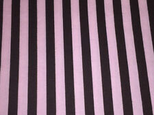 Timeless Treasures Pink Brown Stripe 100% Cotton quilt Fabric 1/2 yard Prewashed