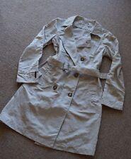 Neuwertige Weiß/ Beige Original PRADA Jacke/Trenchcoat - Zweireihige Knöpfe-Gr.M