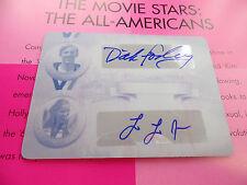 Dick Fosbury LOLO JONES 1/1 auto LEAF Legends of Sport Print PLATE autograph