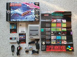 """16-Bit Technologie Set"" Mario World SNES Konsole OVP Karton Box Super Nintendo_"