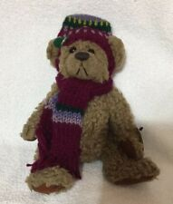 THE Brass Button BEAR 1996 Dooley STUFFED  PLUSH CHRISTMAS HOLIDAY 10""