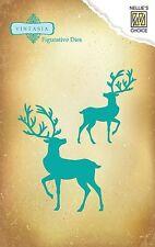 Stanz-/Prägeschablonen Reindeer Rentier Hirsch Xmas Nellie Snellen VIND019