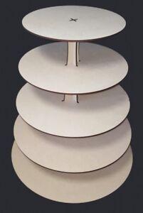 5 Tier Round Cupcake Stand MDF Craft shapes, wedding,birthdays,special ocaision