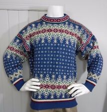 DALE OF NORWAY Mens  SZ L PURE WOOL CLASSIC NORDIC Winter DESIGN Ski  SWEATER