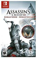 ASSASSIN'S CREED 3 REMASTERED (Nintendo Switch) BRAND NEW FACTORY SEALED ✨