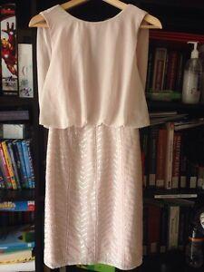 Lipsy London Pastel Pink Sleeveless Knee Length Dress Size Eu 32