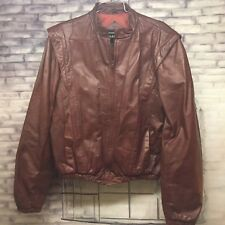 Vintage Casablanca Leather Riding Jacket, Red, Mens Size 44