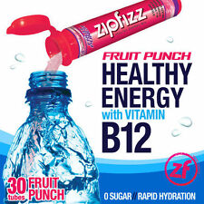 Zipfizz Healthy Energy Drink Mix Fruit Punch 30 Tubes