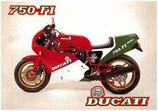 DUCATI Brochure F1 750 1985 1986 1pg Sales Catalog Catalogue REPRO